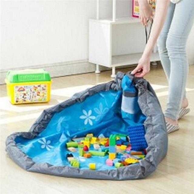 portable enfants jouet sac de rangement et tapis de jeu lego jouets organisateur bin bo te b b. Black Bedroom Furniture Sets. Home Design Ideas