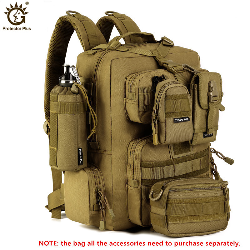 30L Military Backpack 14 inches Laptop Men Multi function Waterproof Nylon Pack Pack Travel Backpack Bolso