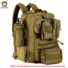 Купить с кэшбэком 2016 Outdoor Sport Women Bag Mountaineering Tactical Backpacks Hiking Camping Men Travel bags Camouflage Laptop Backpack  X100