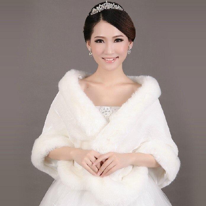 hot sale cheap warm fur ivory bolero wedding wrap shawl bridal jacket coat accessories wedding 2017