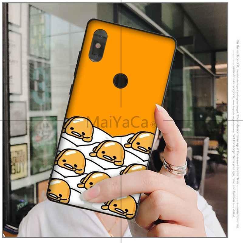 MaiYaCa fofa gudetama preguiçoso ovo High-end Caso de Telefone para Xiao mi mi mi mi x2 6 x2S note3 8 8SE Vermelho mi 5 5 Plus Note4 4X Note5
