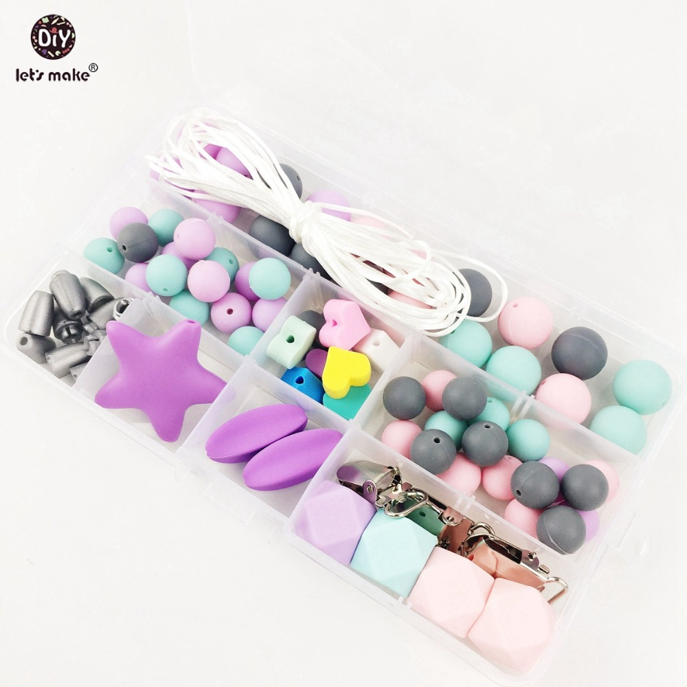 Le të Bëni Set Beads Silicone Diy Accessories Necklace / Pacific Clips Nursing Accessories A Mjeshtëri Diy Mjeshtëri Baby Infermiere Charms Teether