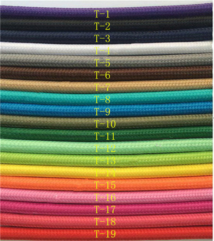 10m /a lot fabric electrical cable Electric cable retro 2*0.75 textile woven mesh cable wire and the color yellow of power lines