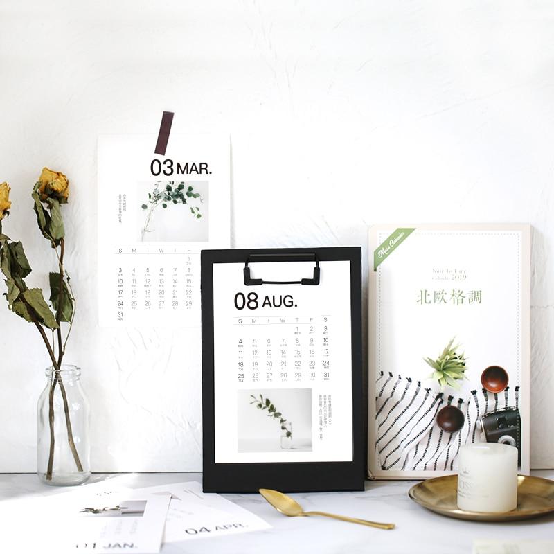 Kalender Office & School Supplies Neue 2019 Kalender Bord Täglichen Planer Agenda Studium Büro Dekor Schreibtisch Büro Liefert Familie Geburtstage 21*13,8 Cm Einfach Zu Verwenden