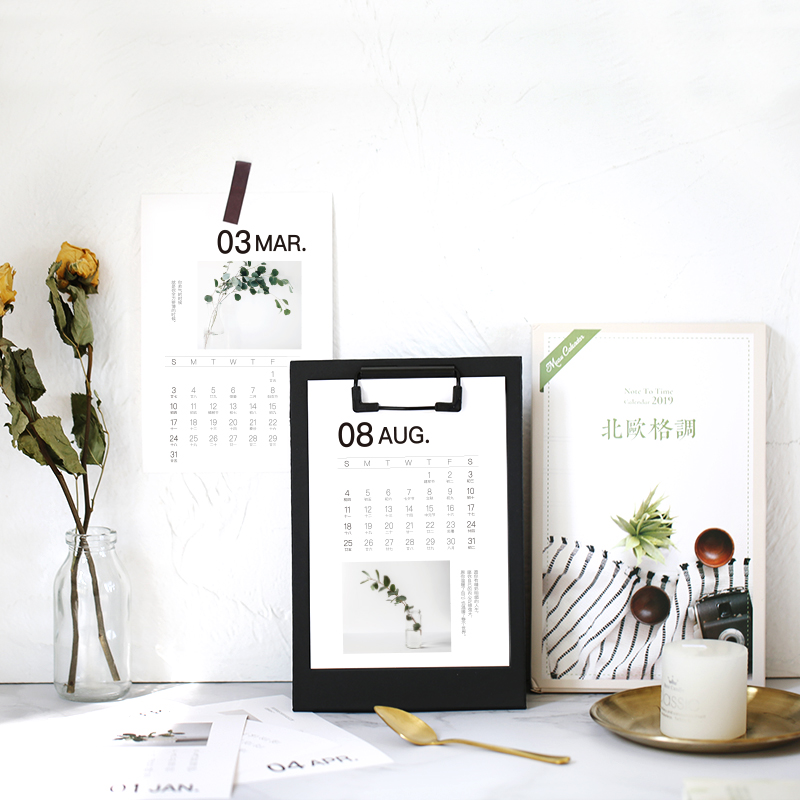 1 Piece 24.8cm Big Size 2019 Flamingo Calendar Office Stationery Desk Notebook Holiday Promotion Gift Girls Birthday Gift Calendar Calendars, Planners & Cards
