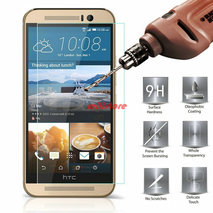 Gehard glas Screen Protector Guard film CASE Voor HTC Desire 326g 516 520 526 620 620g 820 mini 626 g 728 728g 816 826 825