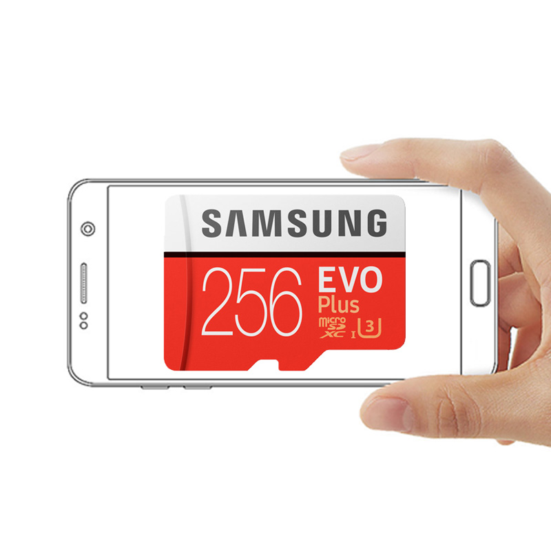 Carte mémoire SAMSUNG Micro SD 256GB 16GB 32GB 64GB 128GB SDHC SDXC Grade EVO Plus U3 EVO classe 10 C10 UHS TF Flash Microsd - 4