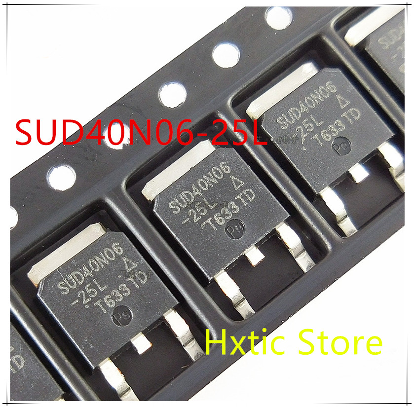 NEW 10PCS/LOT SUD40N06-25L 40N06 40N06-25 TO-252 MOS FET 40A/60V