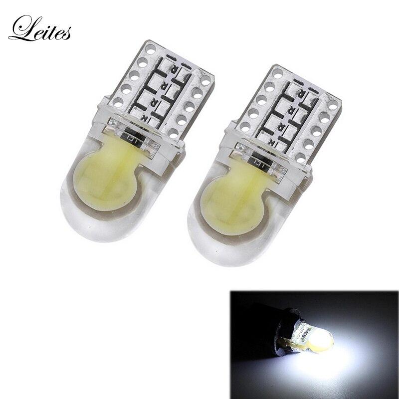 2шт T10 194 168 W5W и удара СИД SMD силиконовый яркий Белый лицензии свет лампы Клин лампы автомобилей стайлинг светодиодные 12В