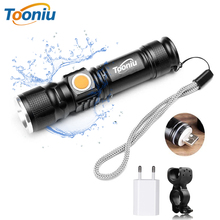 USB Inside Battery Cree XML-T6 Powerful 2200LM Led Flashlight Portable Light Rechargeable Tactical LED Torches Zoom Flashlight sitemap 19 xml
