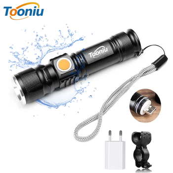USB Rechargeable LED Flashlight Bicycle Light 3 Lighting modes LED Torch For night riding adventure camping hunting outdoor, etc