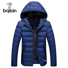 2017 Winter Men Cotton Padded Thicken Jacket Autumn Plus Size Male Fashion Windbreak Warm Parka Outwear Varsity Hooded Long Coat