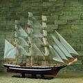 """1 pcs 63 """"handmade GORCH FOCK Detalhada Modelo De Madeira barco à vela Decoração Náutica via transporte do EMS."""