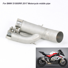 Motorcycle Stainless Steel Middle Conneting Pipe Silp on for BMW S1000RR 2017 Exhaust System