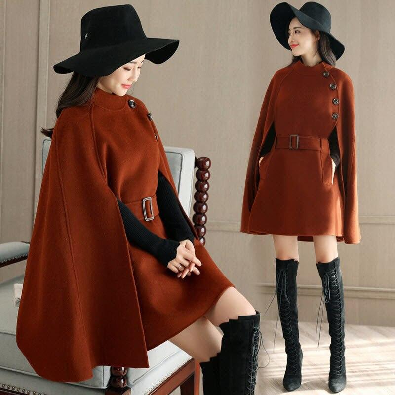Осень Зима Женское шерстяное пальто новая мода Половина Водолазка однобортная Женская куртка плащ Свободное пальто LQ278 - Цвет: caramel