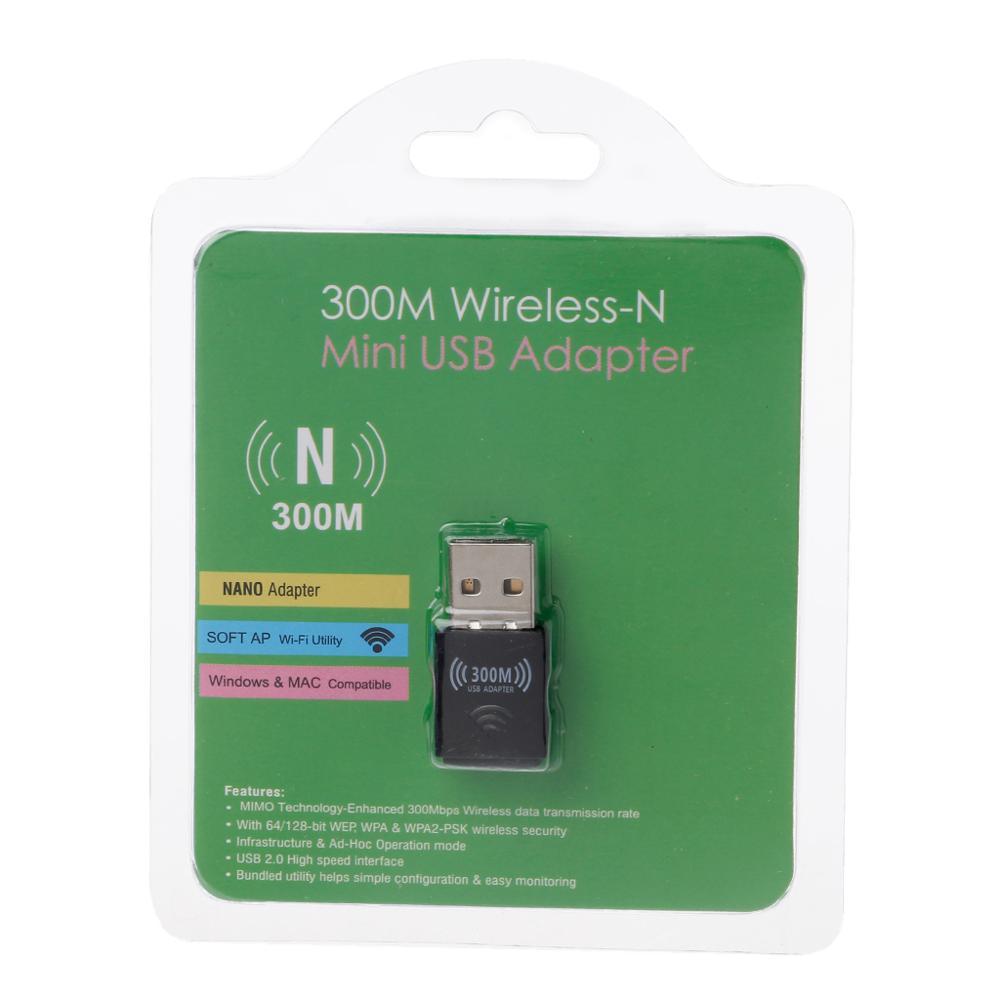 Antenna 300Mbps USB Mini Wireless Network LAN Adapter Card WIFI 802.11n//g//b