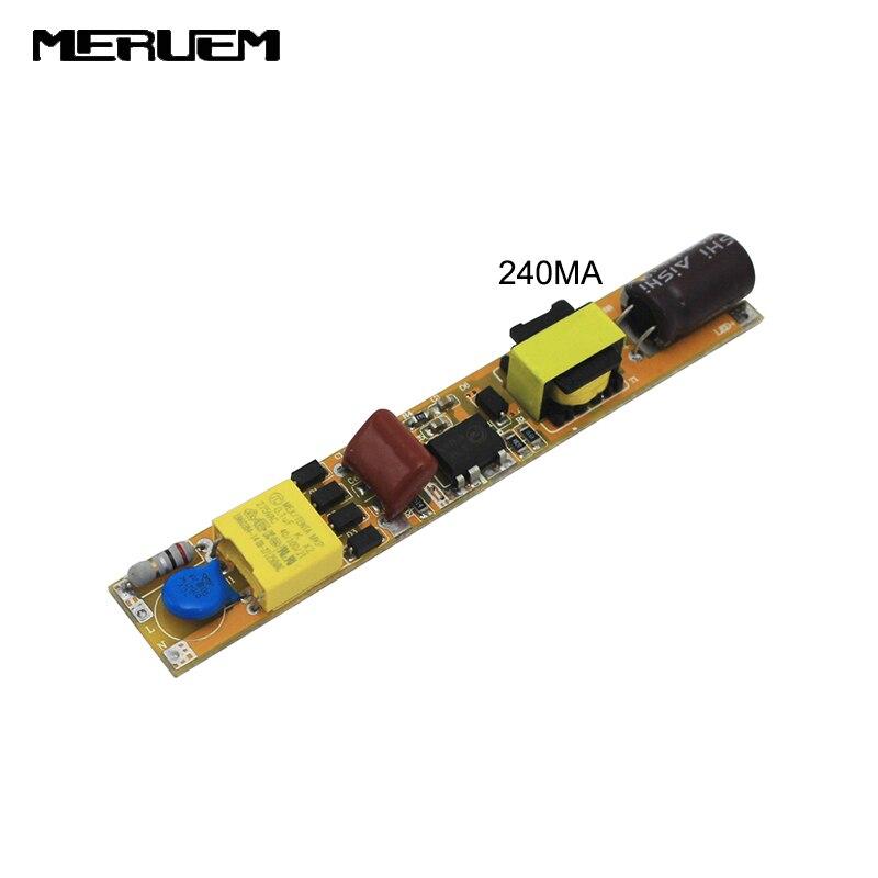 5Pcs/lot 18W 24W 36W LED Tube Driver 2400mA 380mA 450mA Power Supply 90V-260V 0.6M 0.9M 1.2M 1.5M T5 T8 T10 Lighting Transformer