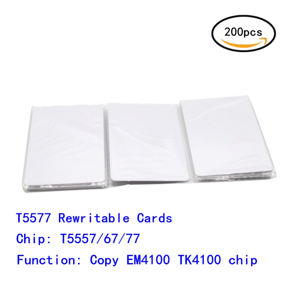 125khz Proximity Rewritable RFID Copier Duplicate erase Card with T5567/T5577/T5557 Chip For Access Control / Hotel door 200PCS цена