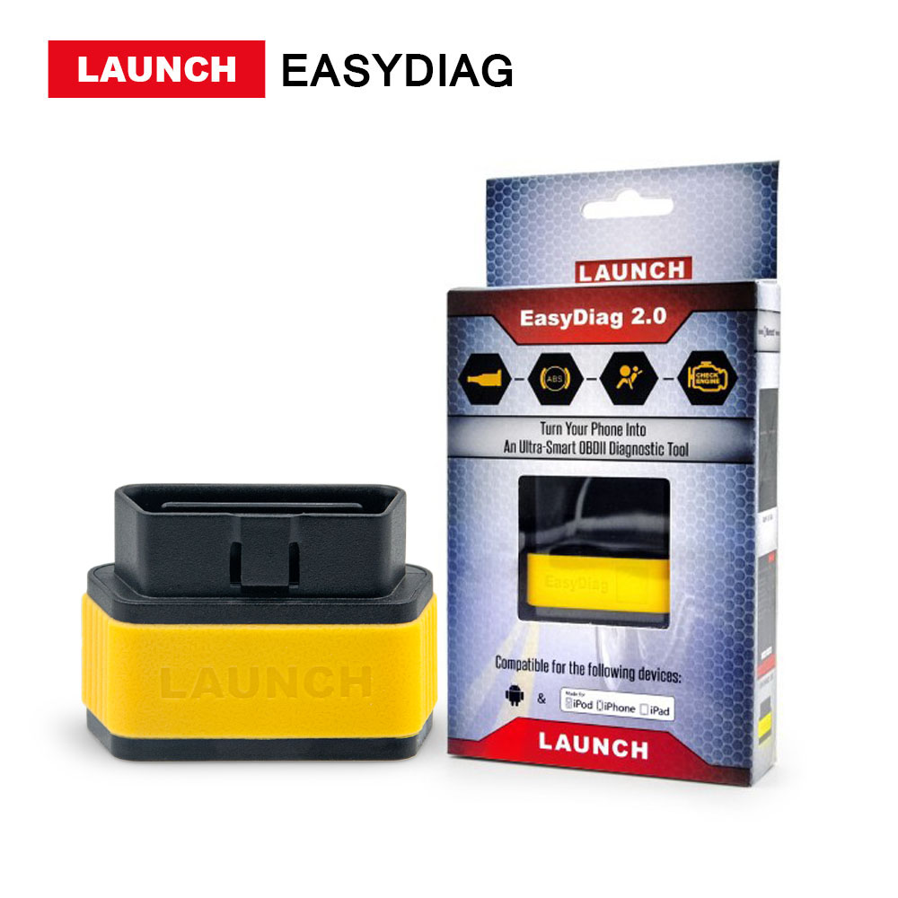 LAUNCH  Direct Store X431 EasyDiag 2.0 OBD2 Code Reader Easy Diag 2.0 With Bluetooth Support All Cars With 16-pin OBD Port launch x431 idiag connector full set package x 431 easydiag adapter launch x431 yellow box without b enz 38 pin adapter in stock