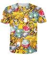 Pokemon Pikachu camiseta vibrante kawaii bonito dos desenhos animados T-shirt verão moda casual t tops camisas do tipo camisa de fitness Alisister