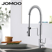JOMOO Kitchen Faucet Mixer Tap Pull Down Sprayer Swivel Rotatable Single Hole Single Handle Sink Faucet