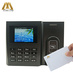 Card Time Attendance Machine MU260 TCP/IP Communication With 13.56MHz MF Card Linux System Office Wall Clock Equipment