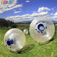 OCYLE Rolling Ball 2.5M 0.8mm Inflatable Grass Ball Human Hamster Ball Inflatable Body Zorb Ball for outdoor exercise Free Shipp