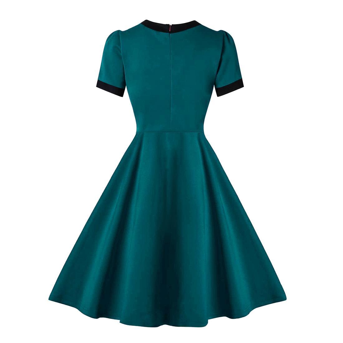 Classic Vintage dress cotton Picnic party dress Rockabilly Dress ...