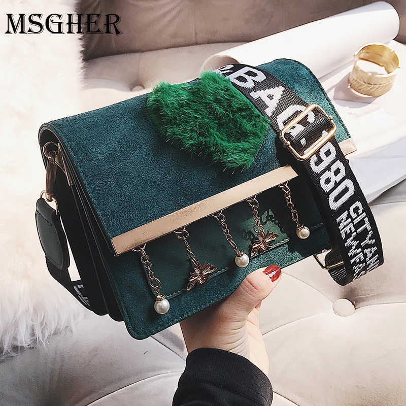MSGHER Retro Women Messenger Bags Pearls Tassel Small Shoulder Bag High  Quality PU Leather Tote Bag 9c9447a18680