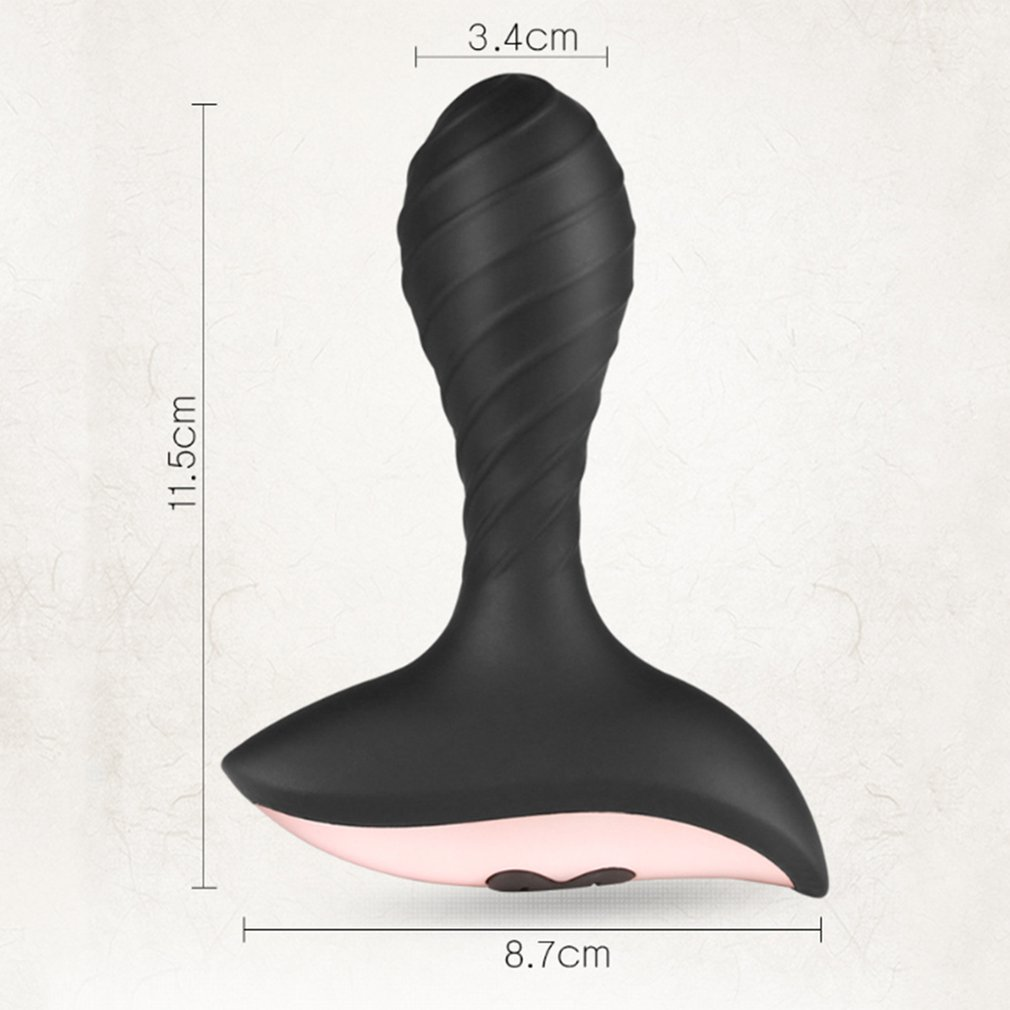 Male Masturbator Prostate Massager 10 Frequency Silicone Butt Plug USB Charging Vibrator Waterproof Anal Plug Climax Sex Toys in Vibrators from Beauty Health