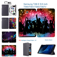 3D Painted Youth Music PU Leather Cover Stand Case For Samsung Galaxy E 9 6 Inch