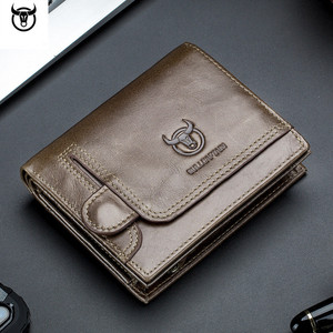 Image 4 - Cartera de cuero genuino para hombre, cartera masculina de diseño con cremallera, cartera para tarjetas y monedas de lujo