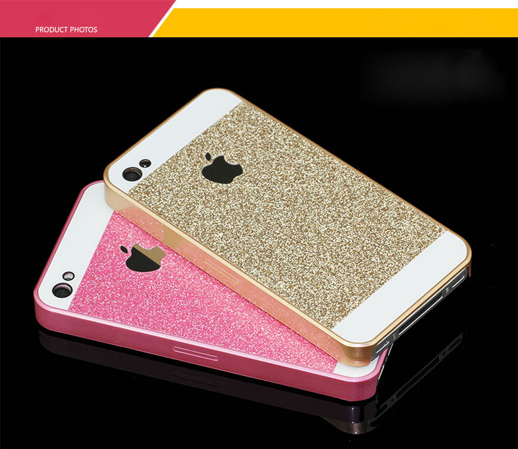newest b3f60 d05ba US $1.49 |Shinny Bling Glitter Mobile Phone Case Pink PC Protect Back Cover  Case for iphone5 6s 6 plus Black Gold White Color FreeShipping-in Fitted ...