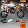 Customized Team Graphics  Backgrounds Decals 3M Custom Stickers For KTM SX F E XC F W SXF125 200 250 300 400 450 520 525 530