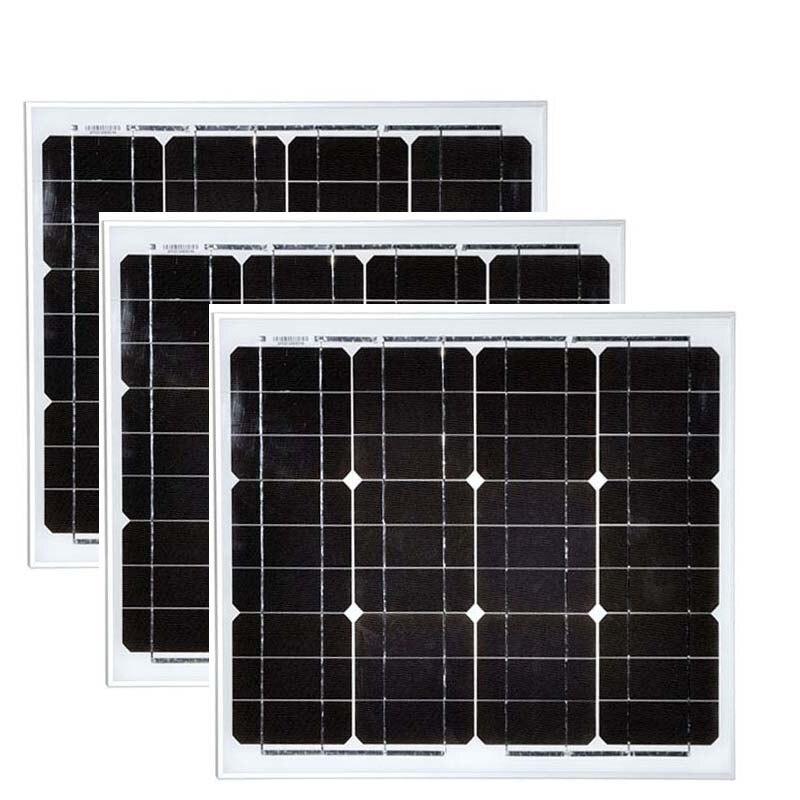 A Grade Waterproof Solarpanel 12v 30w 3Pcs Portable Solar Charger 36v 90w Home System Caravan Car Camping Motorhome