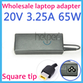 20V 3.25A Square hole 65W AC Adapter Charger Supply For Lenovo Thinkpad S500 G400 G500 G505 G405 X1 Carbon YOGA 13 K4350