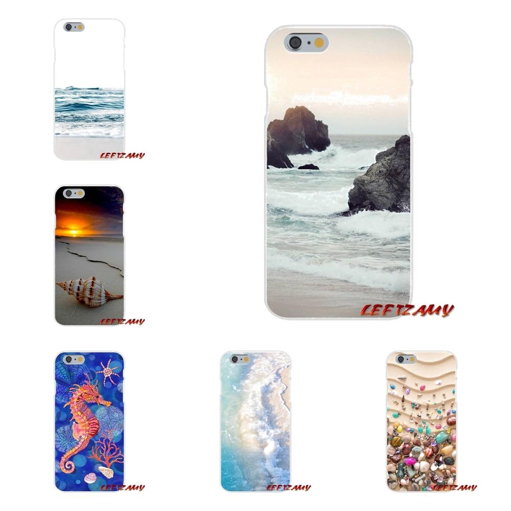 For HTC One M7 M8 A9 M9 E9 Plus U11 Desire 630 530 626 628 816 820 Colorful Seashell Tropical Sea Island Turtles Phone Cover Bag