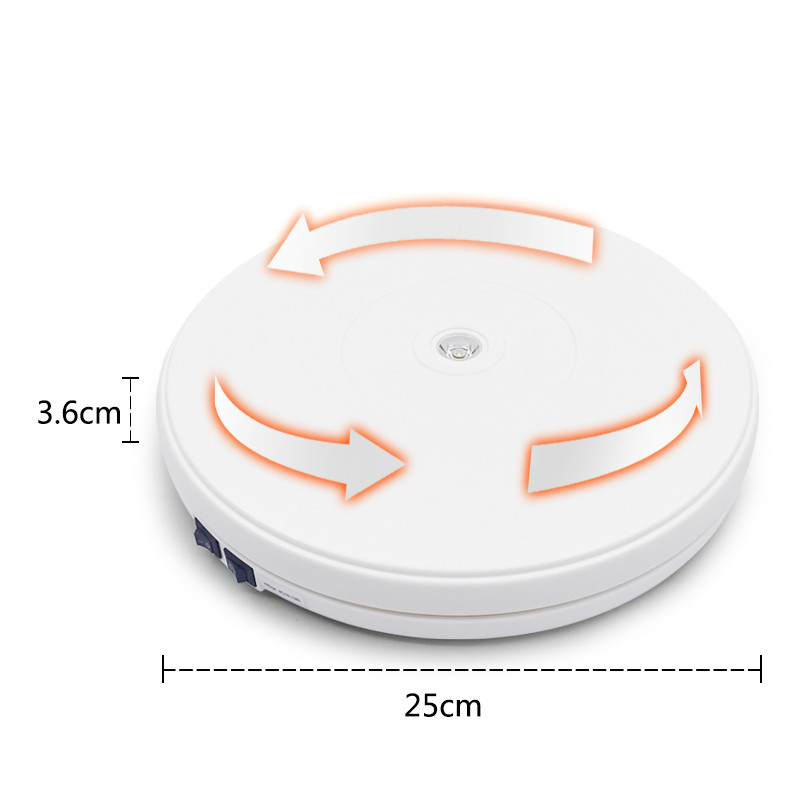 Image 2 - 10 25cm Led Light 360 Degree Electric Rotating Turntable for  Photography, Max Load 10kg 220V  110VPhoto Studio Accessories   -