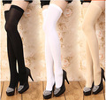 2017 New Brand Opaque Over Knee Elastic Stocking Sexy Thigh High Over Knee Socks Long Cotton Stockings For Girls Ladies Women