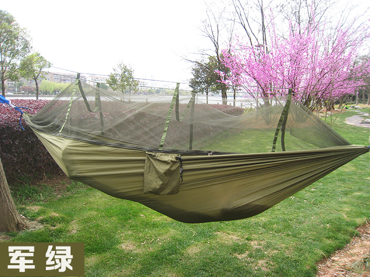 240 120cm portable camouflage hammock with mosquito   outdoor camping survival leisure parachute nylon swings mesh hammock in hammocks from furniture on     240 120cm portable camouflage hammock with mosquito   outdoor      rh   aliexpress