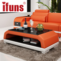 IFUNS Home furniture / Coffee table / Tea table modern originality storage double table wooden legs