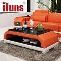 Ifuns mobília home/mesa de café/mesa de chá moderna originalidade duplo armazenamento de mesa de madeira pernas