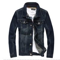 2016 Denim Jacket Men College Outwear Jeans Jacket And Coats Korean Style M 5XL AYG114