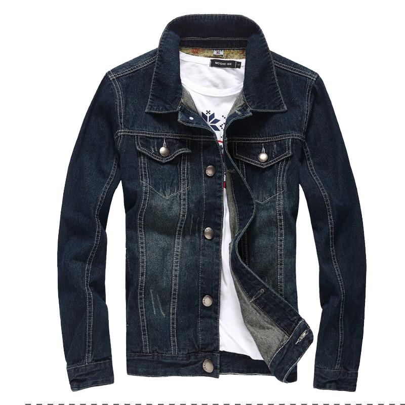 2017 denim jacket men college outwear jeans jacket and coats korean style M 5XL AYG114