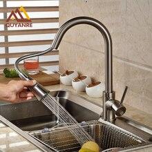 Вытащить Палубе Горе Смеситель Для Кухни Две Функции Смесителя Горячей И холодной Воды Кран