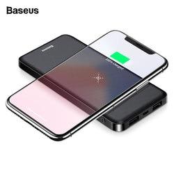 Baseus Portable Qi Wireless Charger Power Bank 10000mAh External Battery Fast Wireless Charging Powerbank For Xiaomi mi 9 iPhone