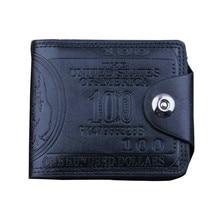 New Designer Men Wallet US Dollar Bill Wallet Brown PU Leather Wallet Bifold Credit Card Photo Men Wallet Purses Hot Selling