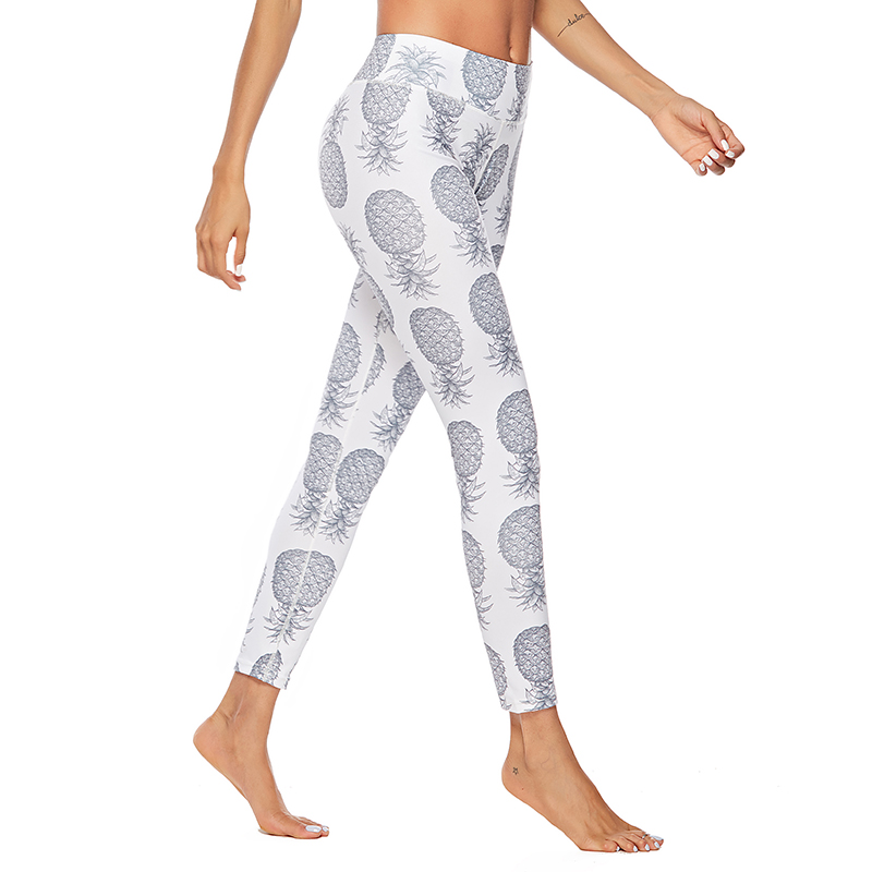 Fashion Pineapple 3D  Print Trousers For Women Push Up Fitness Mujer Leggings Workout High Waist Women's Pants