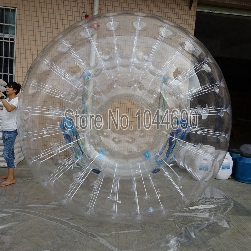 Awesome 2.5m Dia zorb human hamster ball,styrofoam ball for water games wholesale price 3m dia cheap zorb ball zorb ball track for party