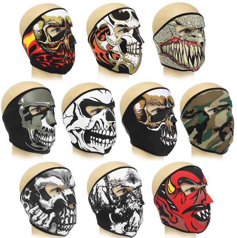 free shipping Details about Neoprene FULL Face Reversible Biker Skateboard Motor Bike Scary Sports Mask motorcycle mask